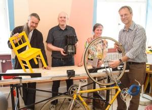 Peter Schunda, Tobias Trübenbach (KBW-Geschäftsführer), Sonja buchholz, Wolfgang Dinglreiter (Direktor des StudienseminarsSt. Michael)